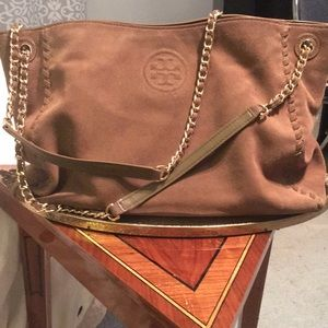 Tory Burch Marion Suede Bag